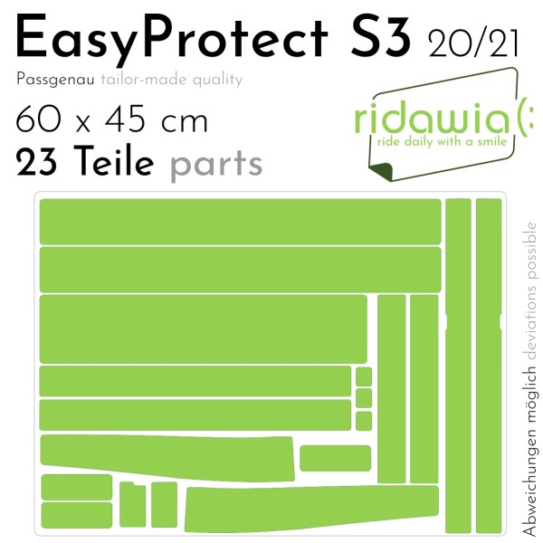 Paint protection cutting - EasyProtect for VANMOOFS3