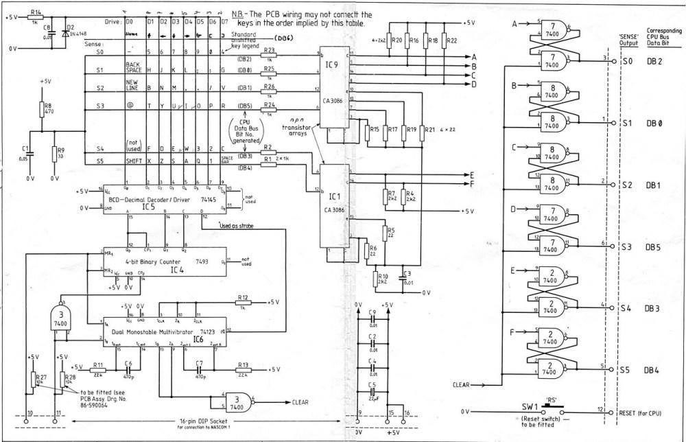 medium resolution of keyboard circuitry