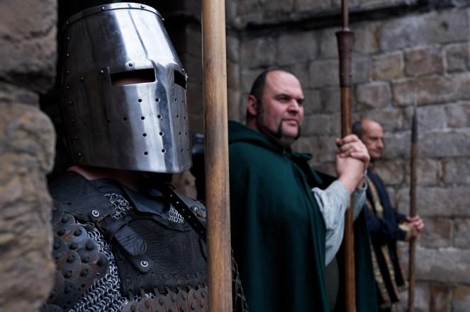 Onze ridders stonden al op wacht van aan de ingang van het kasteel