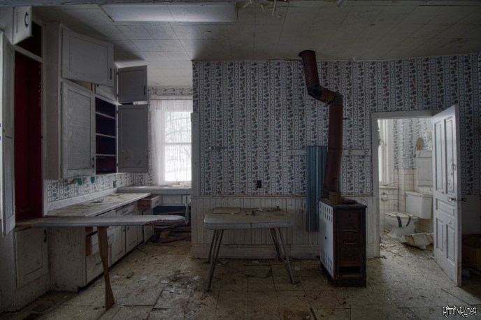 Kitchen in an abandoned house