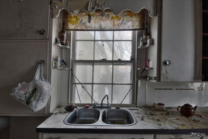 decrepit kitchen window