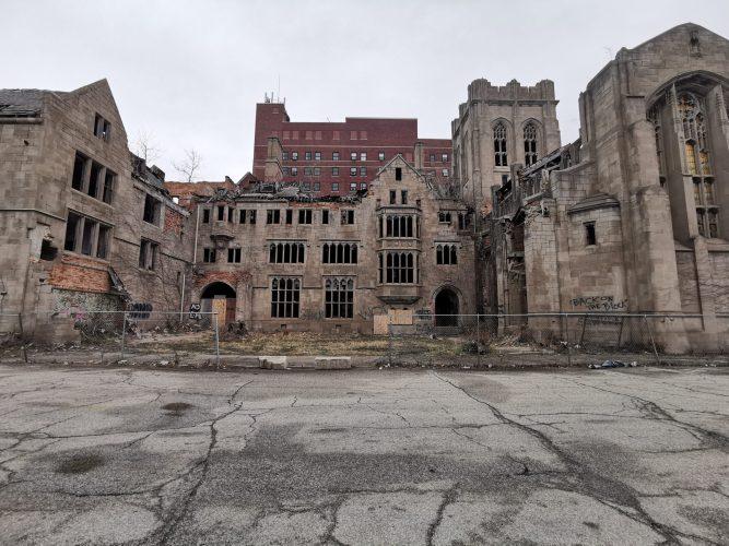 Exterior of Abandoned City Methodist Church