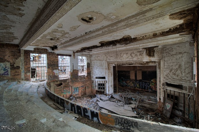 abandoned decrepit theater
