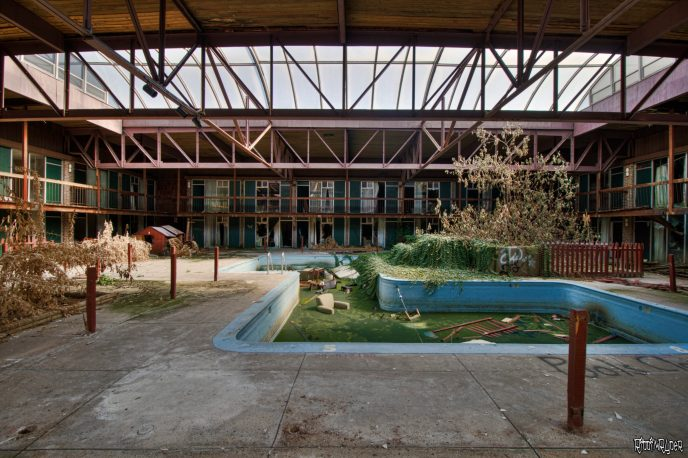 Abandoned resort
