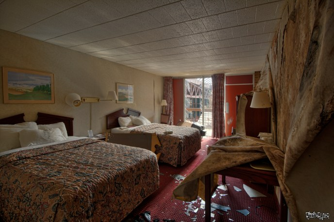 decayed hotel room