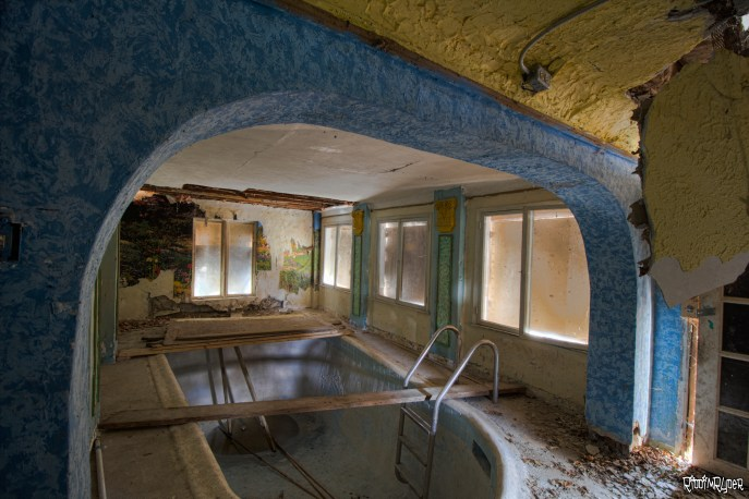 Abandoned Castle indoor pool