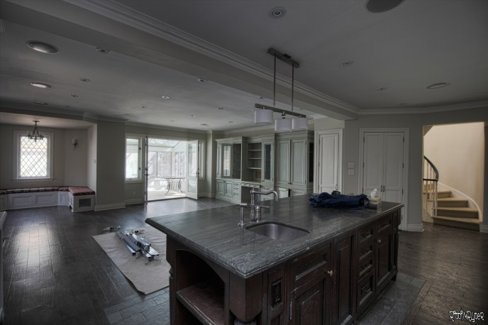 vacant castle kitchen