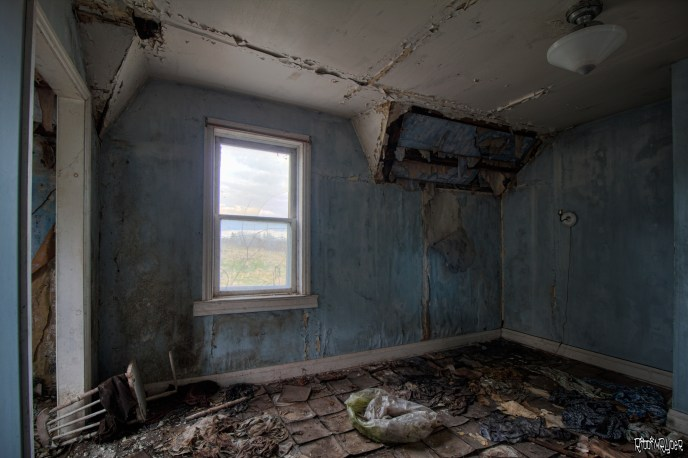 decayed bedroom