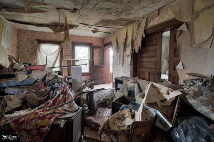 Dangerous Caved in Floors of Abandoned Mansion