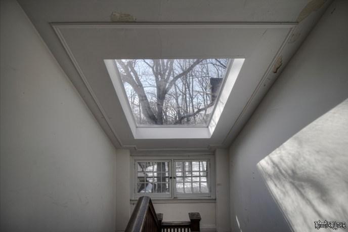 stairs skylight