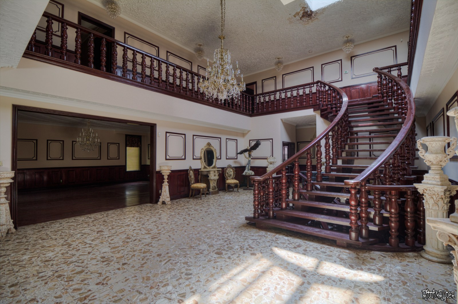 Abandoned $8 Million Custom Mansion
