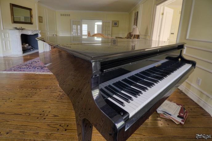 Beautiful Abandoned Colonial Mansion Piano