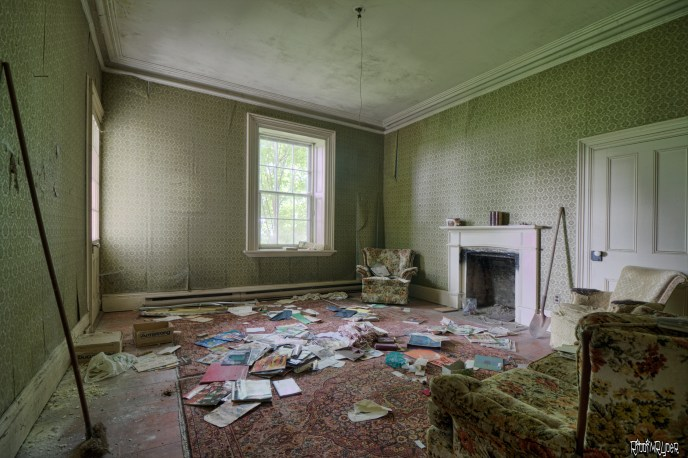 Family Room of the 1900s Stone House
