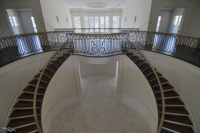Billionaire's Vacant Mansion Staircase