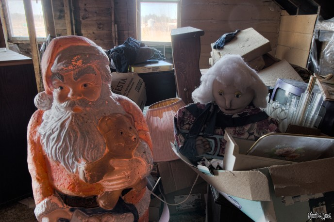 Santa & Creepy Doll