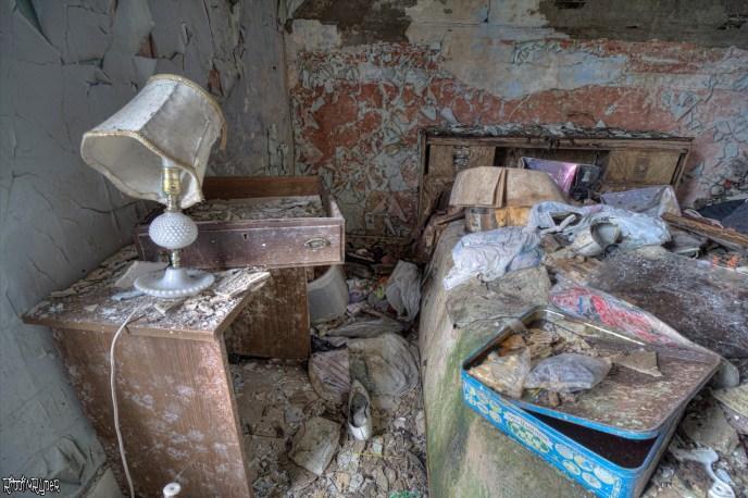 Decayed bedroom