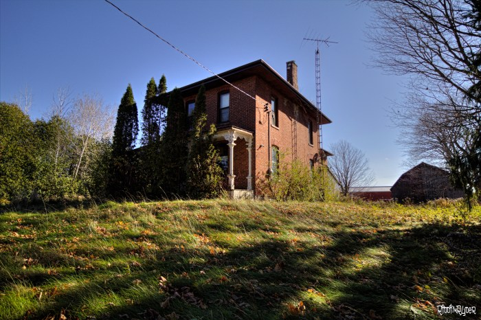 Abandoned Red Brick House