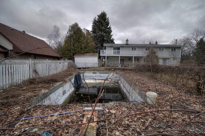 Abandoned Home Backyard