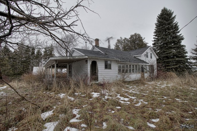 Outside the Abandoned Highway House