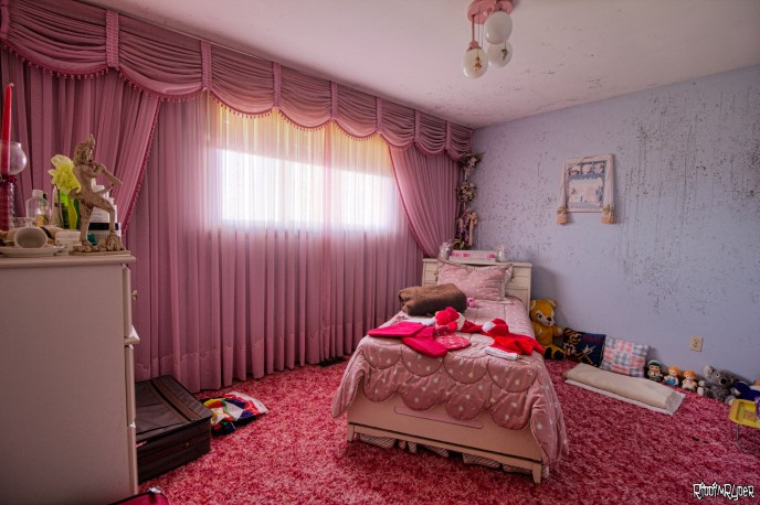 Pink Bedroom in an abandoned time capsule