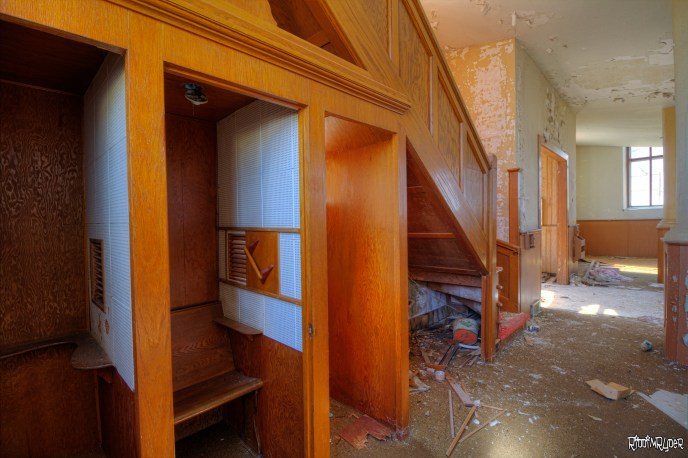 Abandoned Church Confessionals