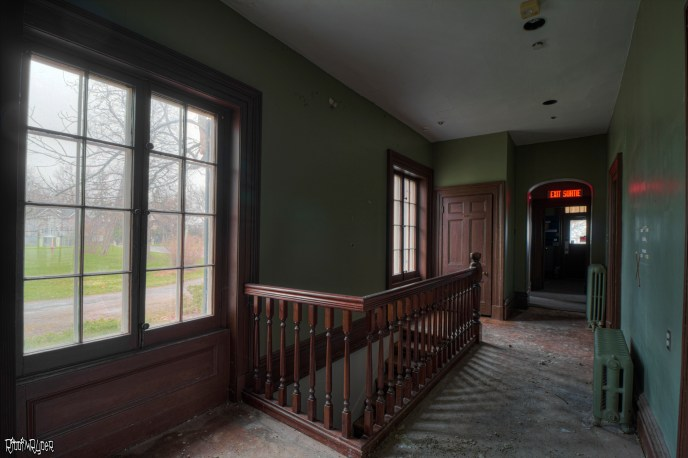 Outside the Abandoned 1830s Mansion basement stairs
