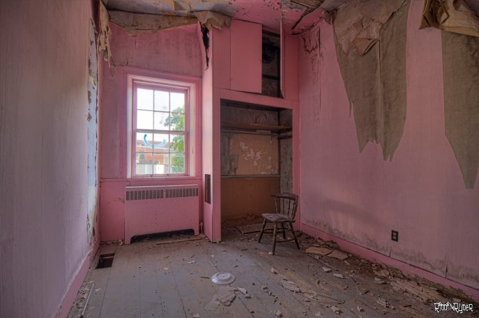 Pink Hotel Room