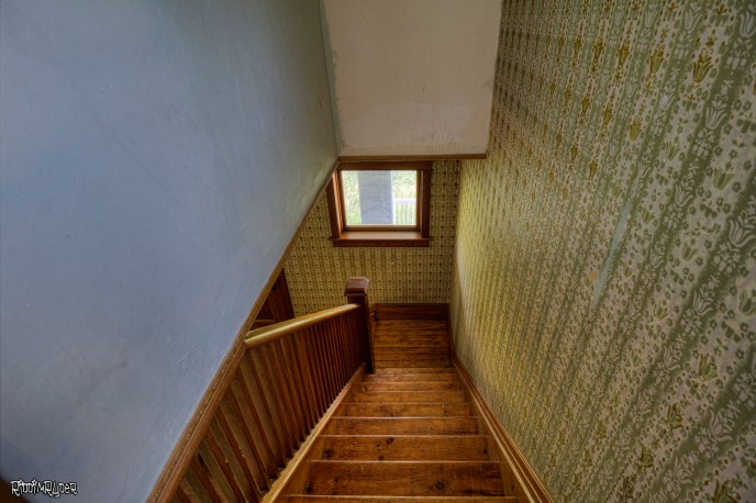 Looking down the stairs