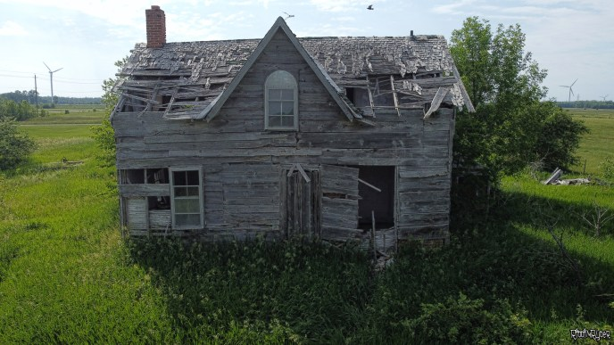 Drone Shot of the Decayed House