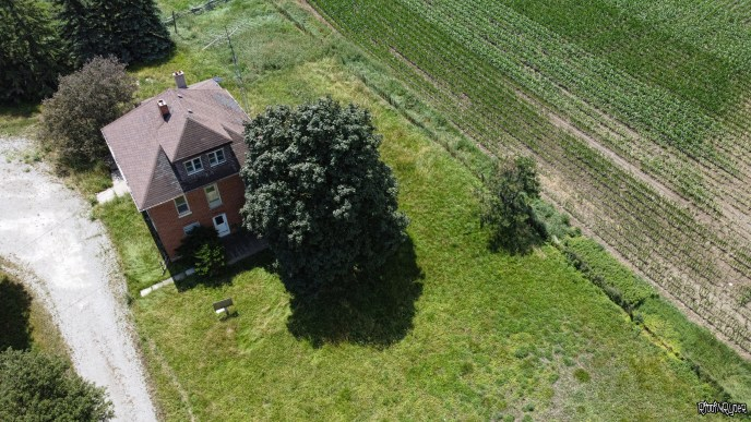 Abandoned Country Homestead Drone Shot