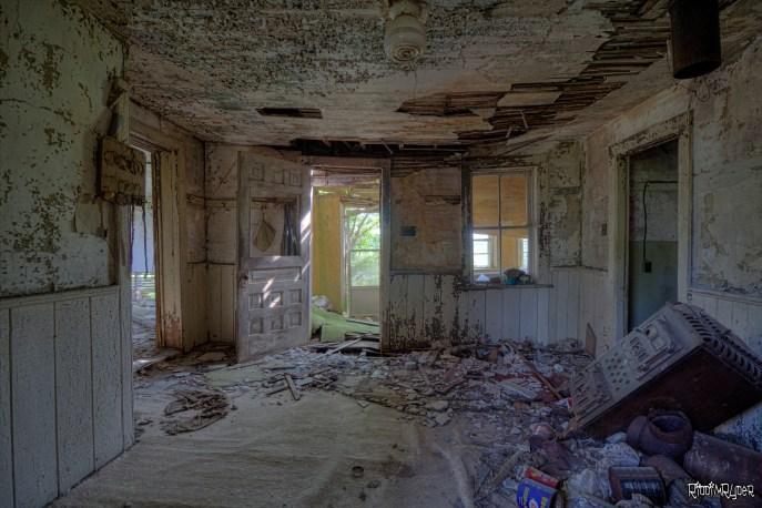 Inside the grey farmhouse