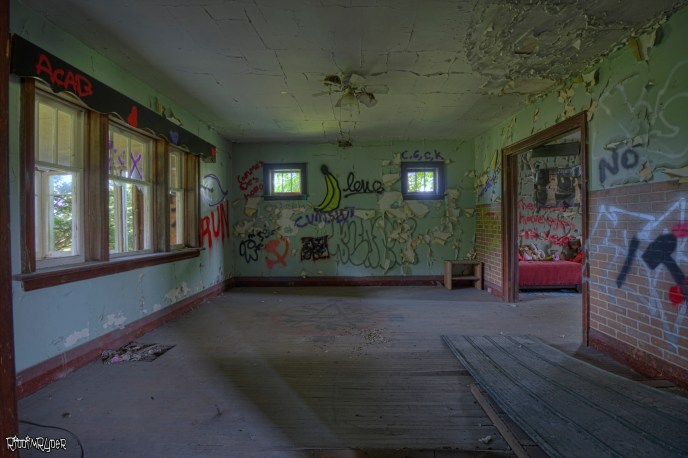 Living Room in the Abandoned House
