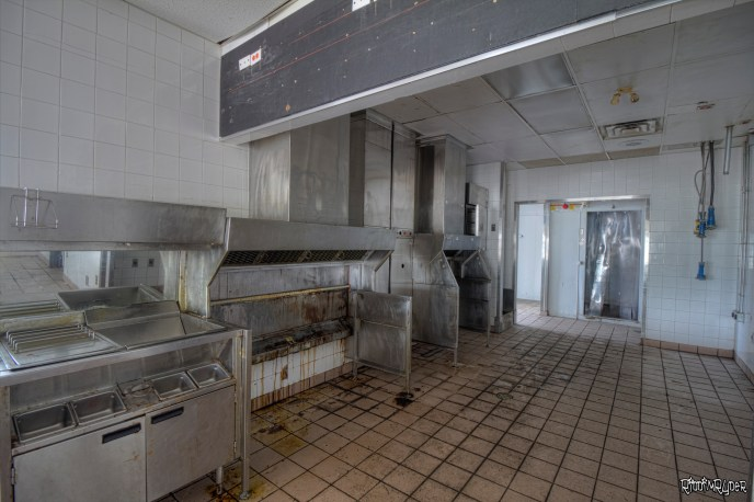 Kitchen of the abandoned restaurant
