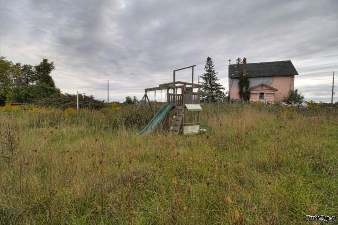 Abandoned jungle gym