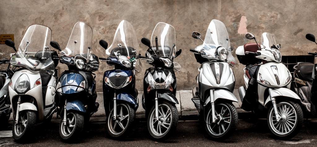 parking motorcycles saves space