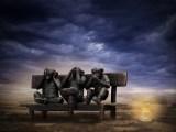 Aujourd'hui : pas grand chose- Trois Singes sachant singer
