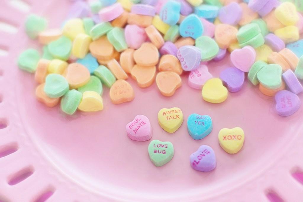 Saint-Valentin : des bonbons en forme de cœur.