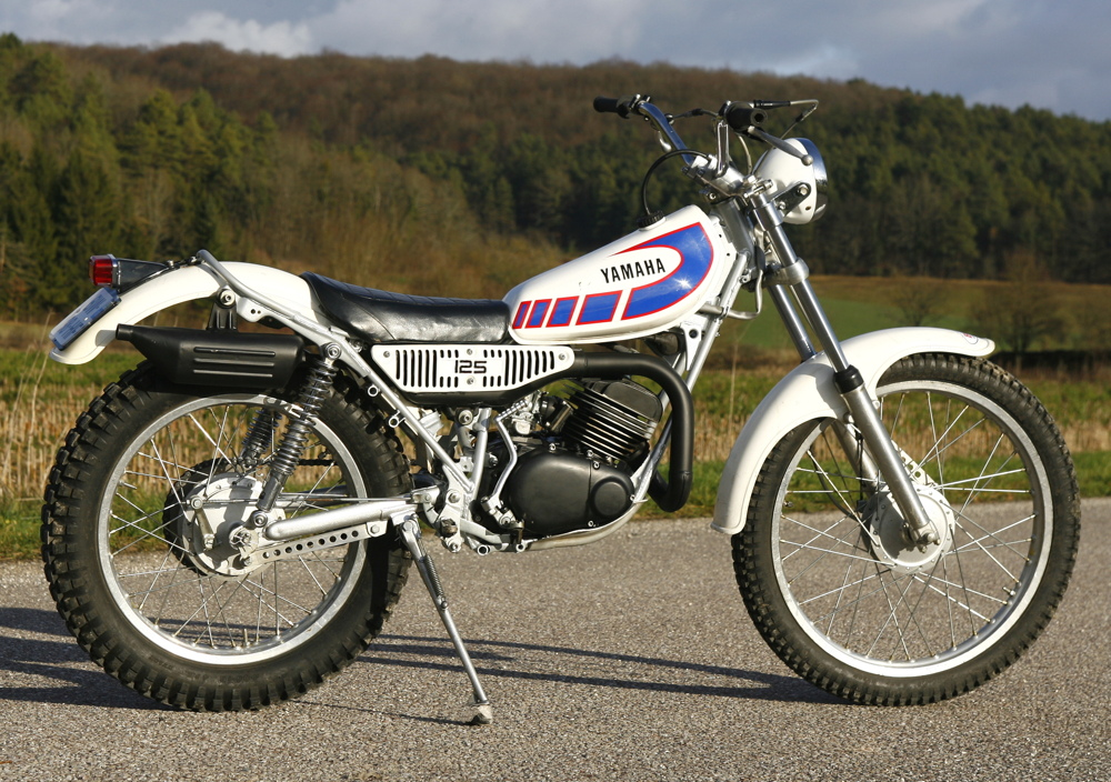 Yamaha Mythiques : une 125 TY, la 125 trial la plus vendue en France.