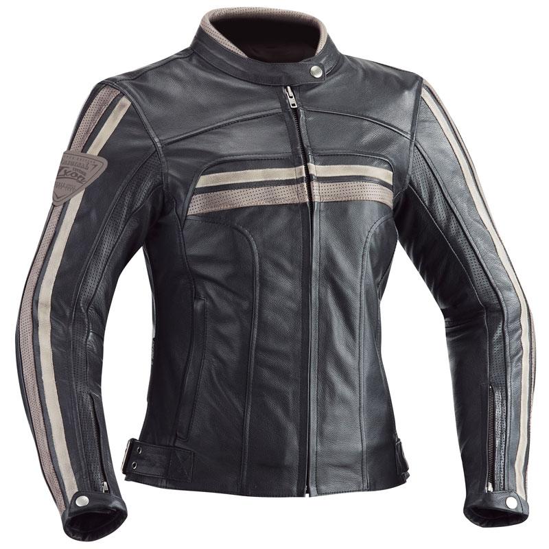 Blouson Moto femme Ixon Heroes Lady noir
