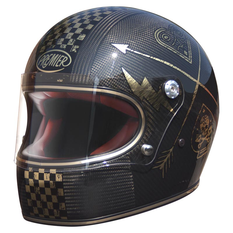 Casque intégral Premier Trophy Carbon NX gold chromed