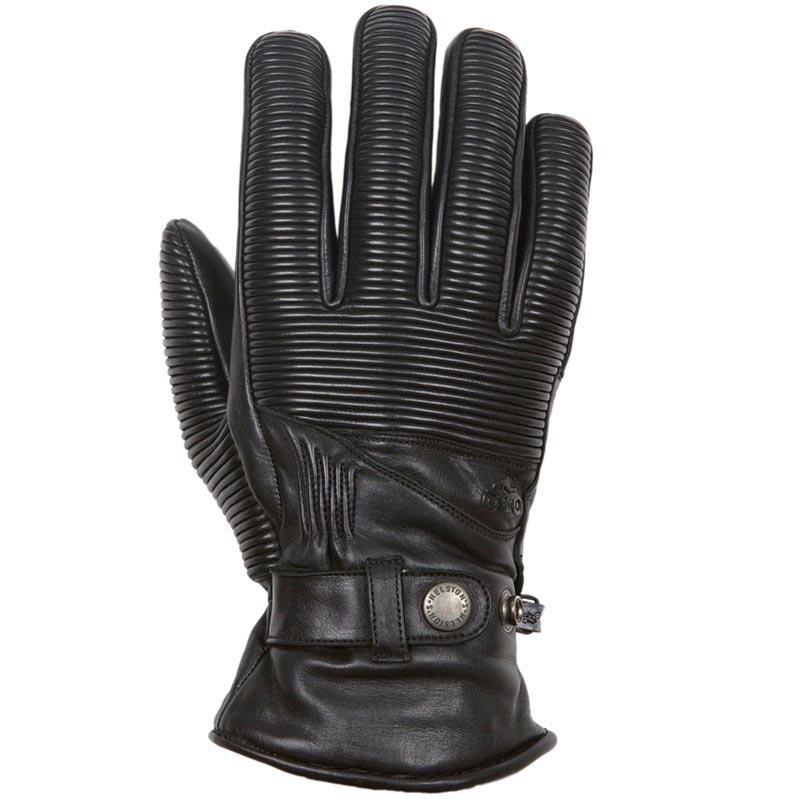 Gants Moto Helstons Camaro Hiver cuir noir