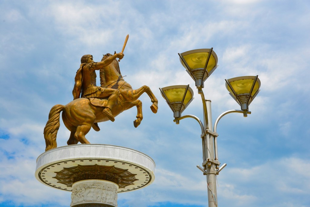 Aventure : Alexandre le Grand chevauchant Bucéphale