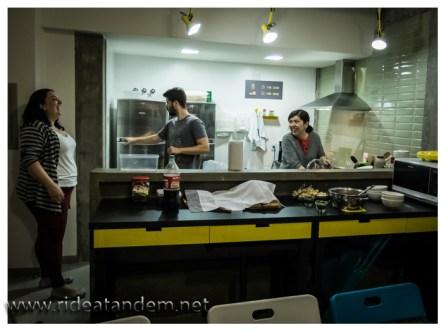 Auch abends noch in der Küche