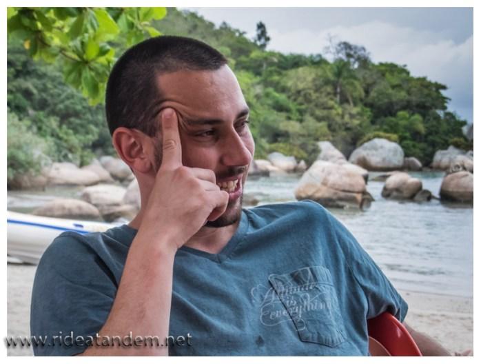 Unser Lieblingshotelmanager, hier in Ranhco Queimado und fast auch weltweit