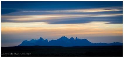 Dann kommen sie wieder, die Anden. hier die Torres del Paine.