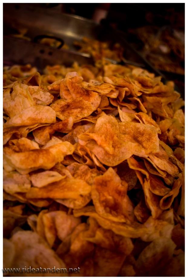und selbstgemachten Chips.