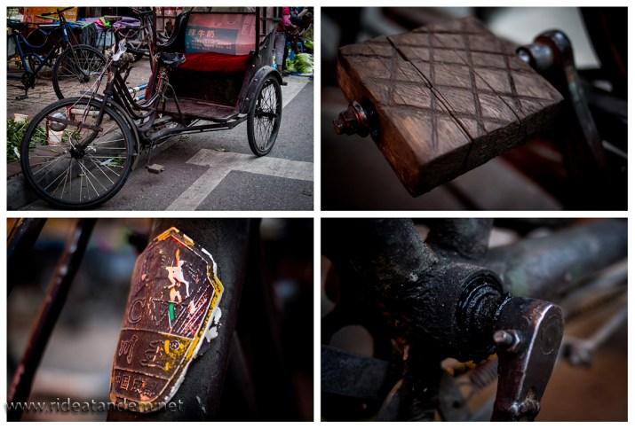 Für einen Radfreund immer interessant die schönen alten Bikes. Wirklich klasse sind die Holzpedale.