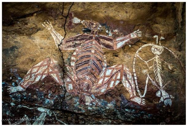 Die wohl weltweit bekannteste Felszeichung der Aborigines