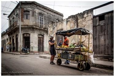 Mieke beim Obstkauf, naja Bananen, gibt es immer nur auf der Strasse, müssen wir lernen.