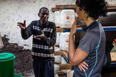 Uganda Kaffeebauer